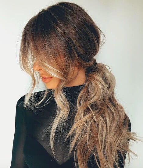 Ombre highlighted Ponytails Haircuts 2019