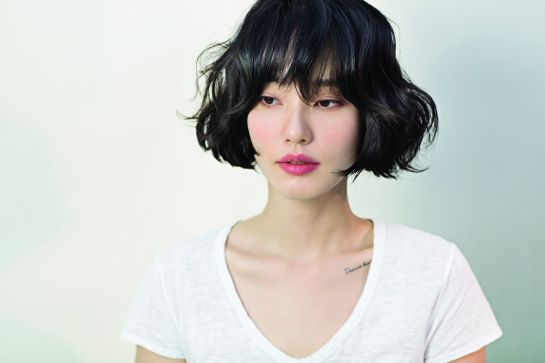Soft Fringes with Outward Curls bob Hairstyles 2019