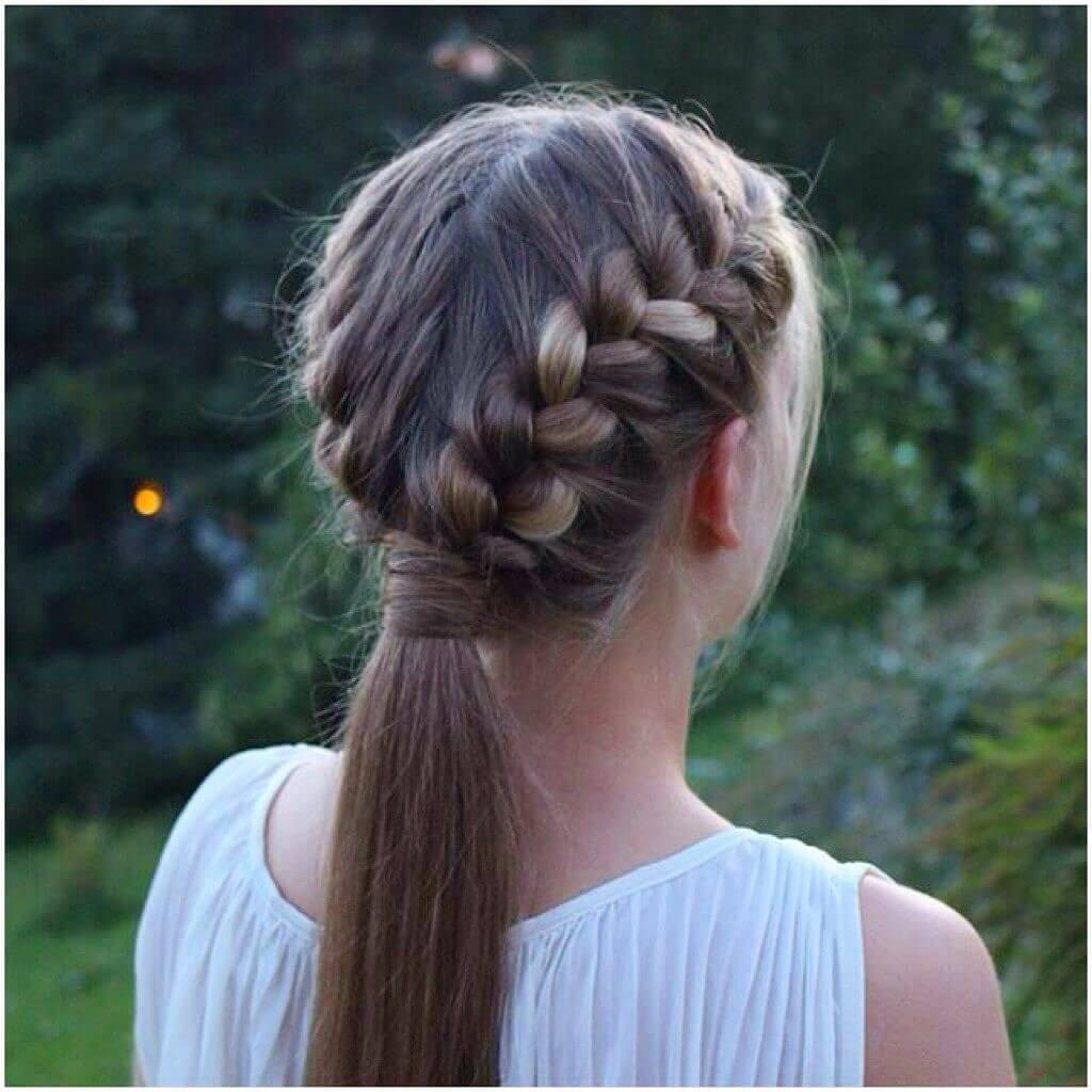 Double French Braid Ponytail Haircuts 2020