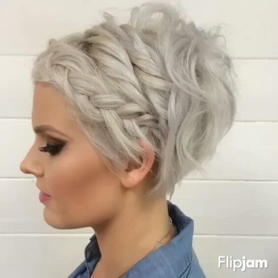 The front braided pixie cut Short Hairstyles for Women 2020