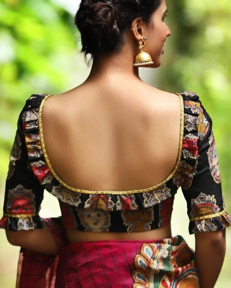 Back Neck Designs For Blouse 2019 2020 30 Latest Blouse Back Neck Designs In Latest Best Selling Shop Women S Shirts High Quality Blouses,Easy Nail Art Designs On Black Base