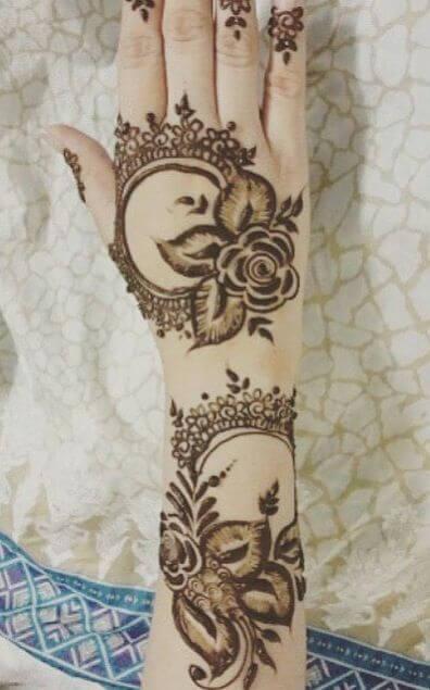 The lace floral design
