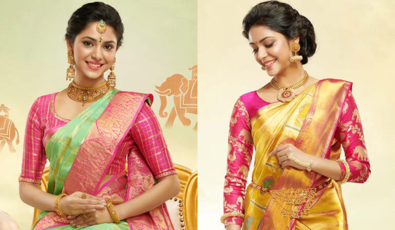 Attractive pattu saree blouse designs