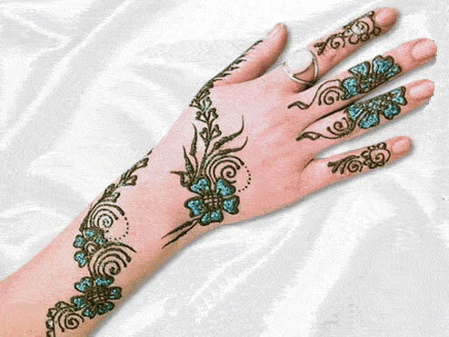 Arabic Mehndi with Glitters