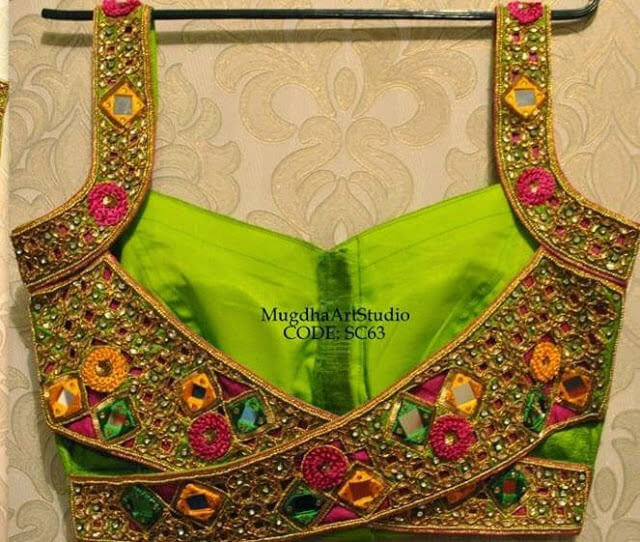 Beautiful Heavy Work Saree blouse designs