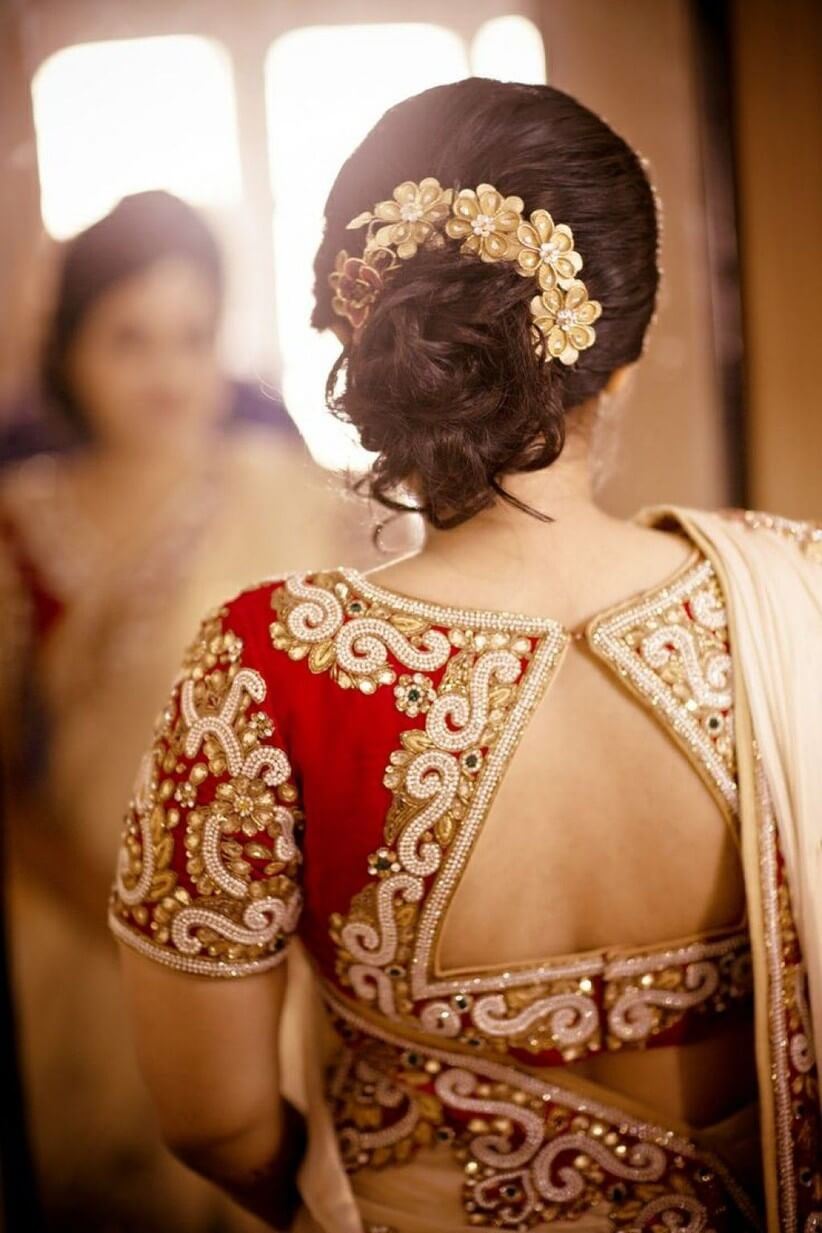 Dashing look bridal blouse designs
