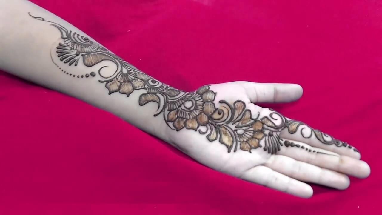 Unique Arabic Mehndi designs