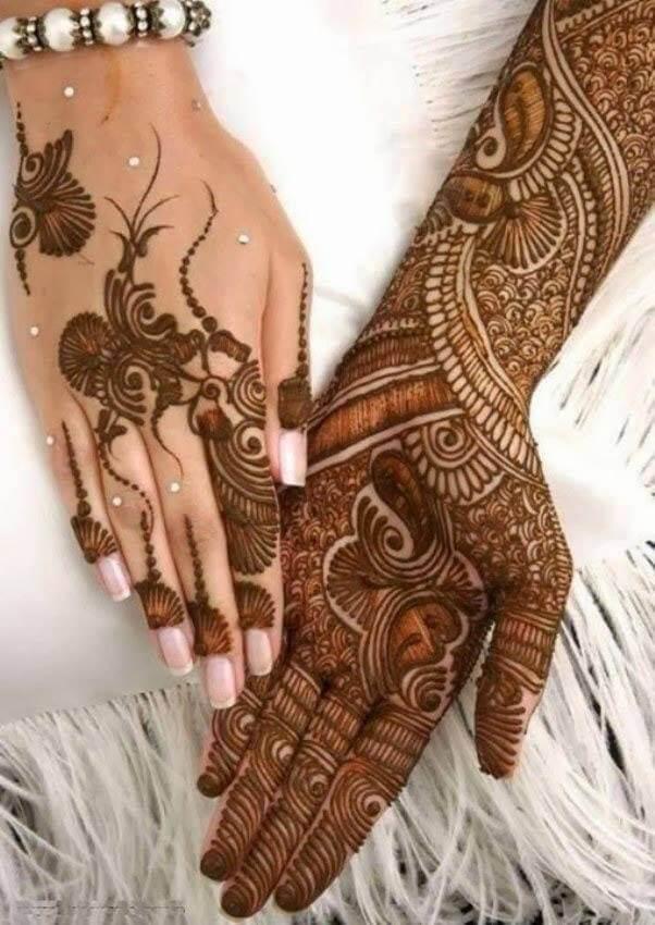 Colorful Arabic Mehndi designs