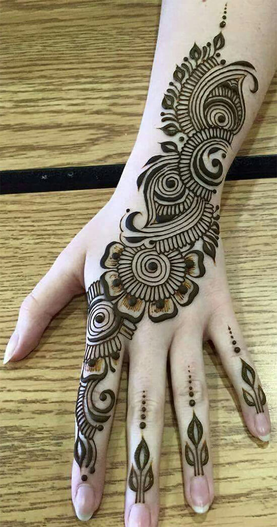 Awesome Indo Arabic Mehendi Designs