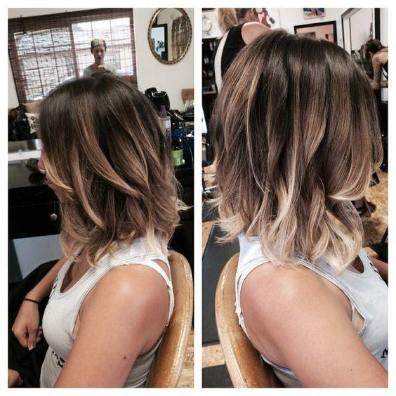 Brown hair with blonde shadows haircuts 2021 women